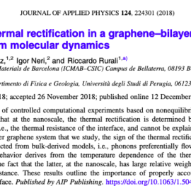 New article on interface driven thermal rectification in a graphene–bilayer graphene junction